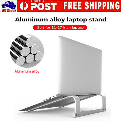 AU19.99 • Buy Portable Aluminium Laptop Stand Tray Holder Riser For Ipad MacBook Notebook AU