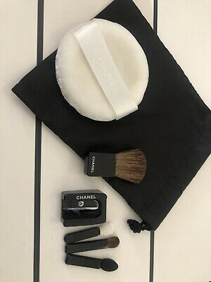 BN CHANEL Travel / Compact Brushes Set - Lips Eyes Sharpener Powder  Pouch • 19.99£