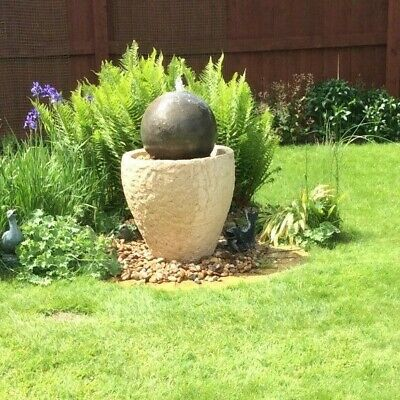 Granery Tub Ball Stone Water Fountain Feature Garden Ornament See Shop For More  • 408.34£