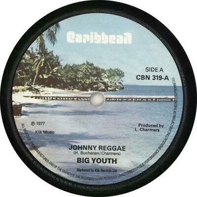 Johnny Reggae Big Youth UK 7  Vinyl Single Record CBN319 CARIBBEAN 1977 • 24.70£