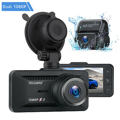 AU87.82 • Buy TOGUARD Both 1080P Dual Lens Car DVR 3  Dash Cam Reversing Camera Video Recorder