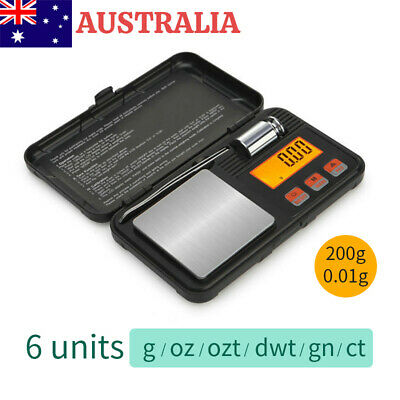 AU20.66 • Buy 200g/0.01g High Precision Electronic Digital Milligram Scales Pocket Jewellery