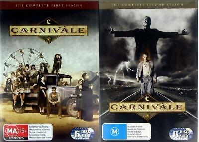 Carnivale The Complete Season 1 & 2 Dvd First Second Series 12 Discs R4 Like New • 29.92£