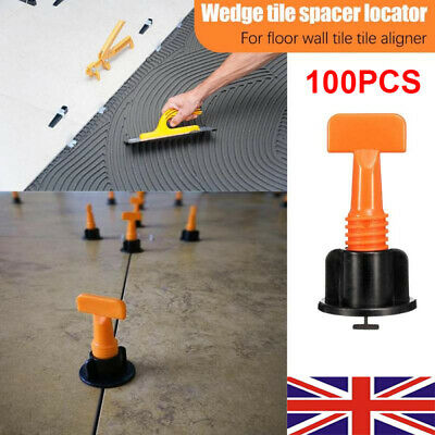 100pcs Tile Positioning Leveler System Kits Tile Spacer Reusable Wall Floor Tool • 13.99£