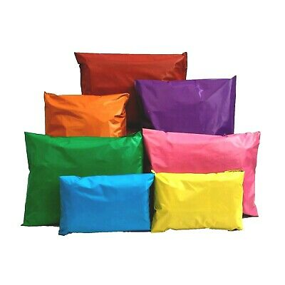 £5.95 • Buy Mixed Coloured Mailing Bags Strong Mail Post Self Seal 5 Size Bags / 5 Colours