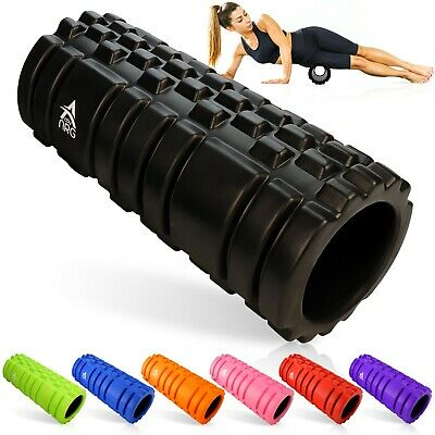 AU17.80 • Buy Foam Fitness Roller For Deep Tissue Massage Grid Muscle Trigger Point Muscles