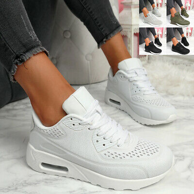 $ CDN29.79 • Buy Womens Ladies Running Trainers Party Lace Up Sneakers Mesh Women Shoes Size