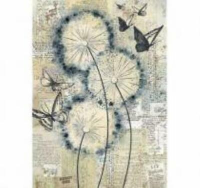 £1.99 • Buy A4 Rice Paper - Butterfly And Dandelion Decoupage Paper, Scrapbook Sheet