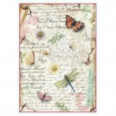 £1.99 • Buy A4 Rice Paper - Butterfly And Dragonfly Design Decoupage Paper, Scrapbook Sheet