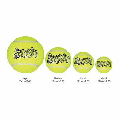 KONG SqueakAir Tennis Balls Squeaky Dog Toy Fetch-Extra Small Small Medium Large • 8.99£
