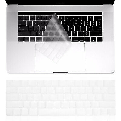"""$8.54 • Buy Keyboard Cover For MacBook Pro 13"""" 15"""" Touch Bar 2016 2017 2020 Protector Clear"""