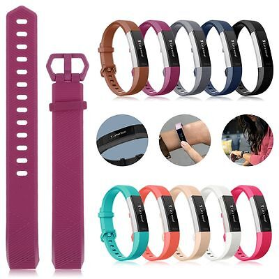 $ CDN7.83 • Buy For Fitbit Alta Alta HR Sport Watch Band Silicone Secure Strap Wristband Fitness