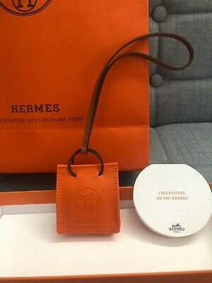 AU700 • Buy Brand New Hermes Orange Sac Bag Charm - 100% Authentic With Box + All Packaging