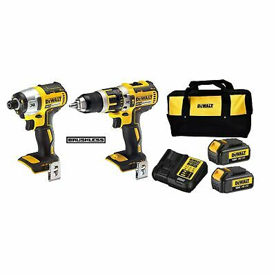 $420.95 • Buy DeWALT 18V XR Brushless Combi Drill And Impact Driver Kit With 2 3.0 - USA BRAND