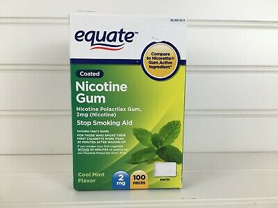 $ CDN39.83 • Buy Equate 2mg Coated Cool Mint Nicotine Gum | 100 Pieces Stop Smoking Aid