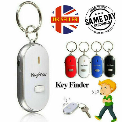 Anti Lost LED Key Finder Locator Keychain Whistle Sound Control Keyring Tracker • 3.45£