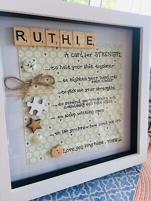 Personalised Scrabble Picture Frame- Friend Survival Kit • 20£
