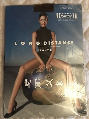 WOLFORD LONG DISTANCE Support TIGHTS Size XL Travel & Work Coca • 29.99£