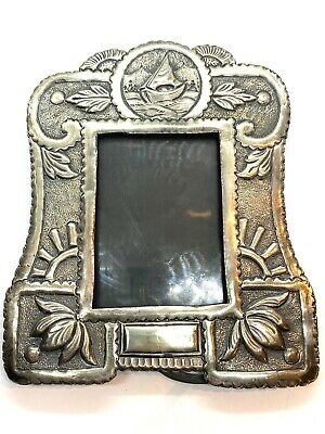£145 • Buy Beautiful Antique Anglo Indian Silver Repousse Picture Frame 135 Grams
