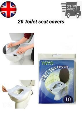 £3.49 • Buy 20 Disposable Toilet Seat Covers Hygiene Protection Washrooms Travel Flushable