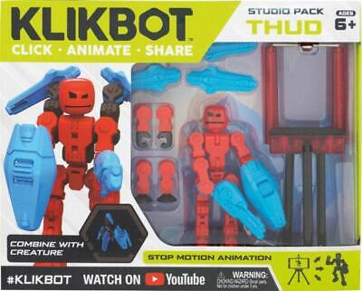 Stikbot Klikbot Studio Stop Motion Animation Action Pack - Thud • 14.99£