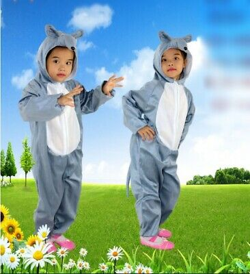 £9.99 • Buy New Kids Animal Play Costume Dress Up Mouse Rat One Piece All Seasons 3-10 Year