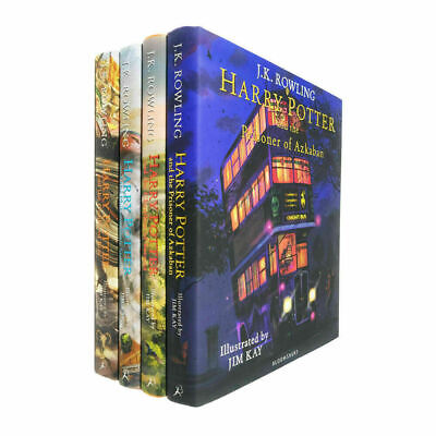 $ CDN115.03 • Buy Harry Potter The Illustrated Books 4 Collection Set Pack Hardback By J.K.Rowling