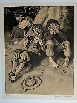 $ CDN908.29 • Buy Norman Rockwell Hand Signed Lithograph From The Tom Sawyer Series