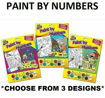 Paint By Numbers Art Childrens Kids Adults Child Mermaid Fairy Shark Farm Space • 3.69£