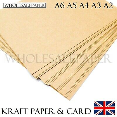 £0.99 • Buy A6 A5 A4 A3 A2 Brown Kraft Card Blanks Craft Printer Paper Place Tags Bag Labels