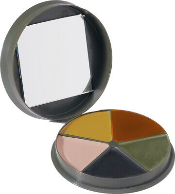 Camouflage Face Paint With Round Case & Mirror 5 Color • 5.65£