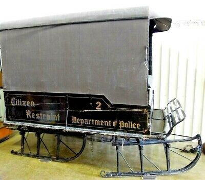 $4500 • Buy  Sleigh Paddy Wagon Horse Drawn Antique Police Dept Canvas Top