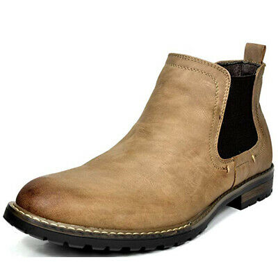 $35.06 • Buy BRUNO MARC Men's Chelsea Ankle Boots Classic Dress Casual Elastic Slip On Shoes