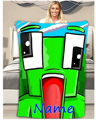 Unspeakable Personalised Throw Blanket Warm Soft Bed Sofa Fleece Kids Bday Gift • 33.99£