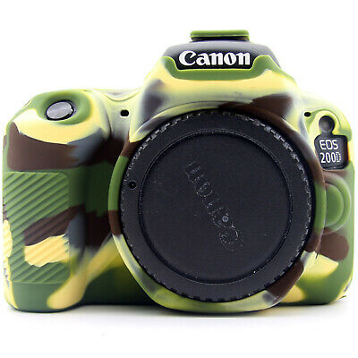 Camera Bag Soft Silicone Rubber Protective Body Cover Case For Canon 200D 750D • 18.62£
