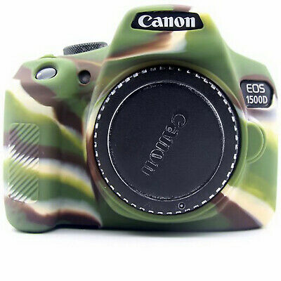 Silicone Armor Skin Case For Canon 1500D 1300D Rebel T6 77D Body Cover Protector • 17.52£
