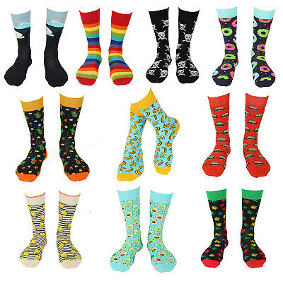 New W/M Assorted Designs Cotton Printed Novelty Funky Socks UK 6-11 UK 4-8 • 2.99£