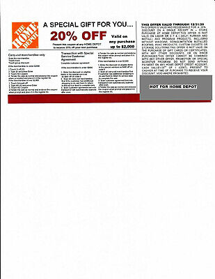 $10 • Buy  *(4)*20% OFF HOME DEPOT Competitors Coupon At Lowe's Exp 12/31/20