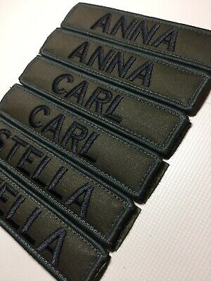 Embroidered  5 X1  Name Patch Hook And Loop Army AirSoft Paintball Security Tac • 6.99£