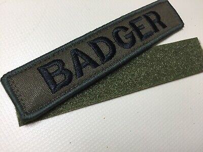 Custom Embroidered NamePatch Hook And Loop 5 X1  Tact AirSoft Paintball 🇬🇧 • 6.99£