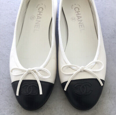 £481.43 • Buy Chanel Ballerina Flats Size 36 Black And White Lambskin Leather