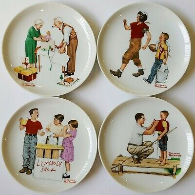 $ CDN50.20 • Buy Authentic NORMAN ROCKWELL  Lot Of 4 Decorative Collector's Plates