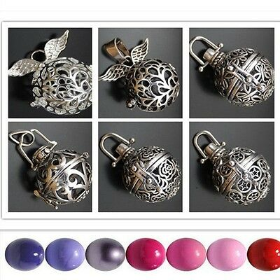 Silver Openable Mexican Bola Bell Harmony Ball Preganant Baby Soothing Baby • 2.49£
