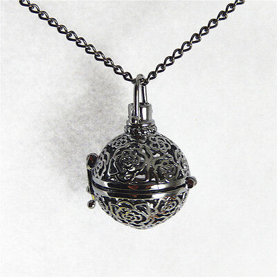 Black Color Mexican Bola Ball Harmony Ball Alloy Necklace Pendants Charms 52394 • 2.06£