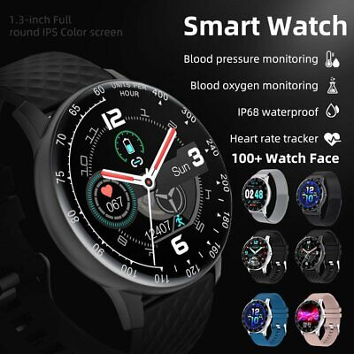 AU44.85 • Buy Smart Watch IP68 PPG ECG Blood Oxygen Pressure Heart Rate For Android IPhone