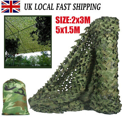 £12.99 • Buy 4mX6m Army Camouflage Net Camo Netting Camping Shooting Hunting Hide Woodland TA