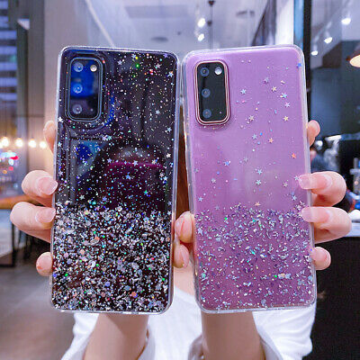 $ CDN4.56 • Buy For Samsung A21S S21 S20 FE Note 20 A51 A71 Glitter Clear Silicone Case Cover