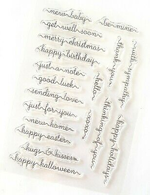 Sentiment Words Clear Rubber Stamps/stamp-happy Easter/new Home/baby/just A Note • 5.75£