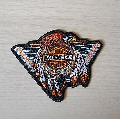 AU5.95 • Buy Motor Cycles Harley Davidson Iron On / Sew On Patch Embroidered Badge