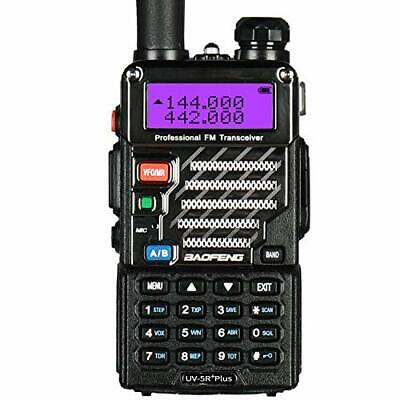 Baofeng UV 5R Plus UHF VHF Long Range Dual Band Ham Amateur Two Way Radio, Black • 37.99£